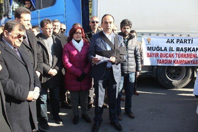 AK Parti'nin Türkmenlere Yardım Tır'ı Ylola Çıktı