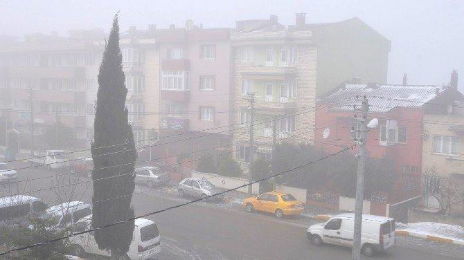 Bandırma'da Sis Etkili Oldu