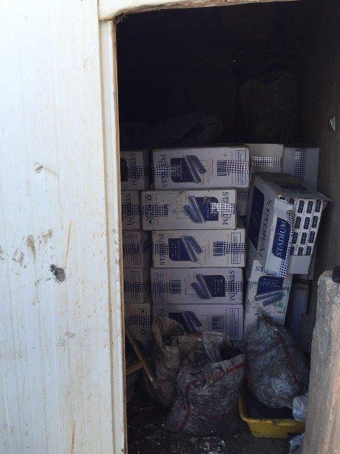 Doğubayazıt'ta 309 Bin 500 Paket Kaçak Sigara Ele Geçirildi
