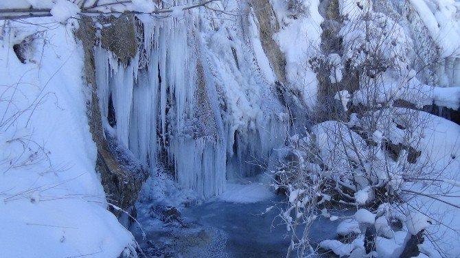 Erzincan Buz Kesti, Girlevik Şelalesi Dondu