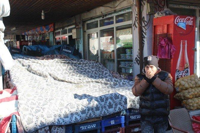 Yavuzeli'nde Soğuk Hava İle Hayat Dondu