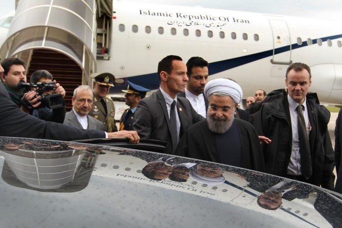 İran Cumhurbaşkanı Ruhani, Paris'te