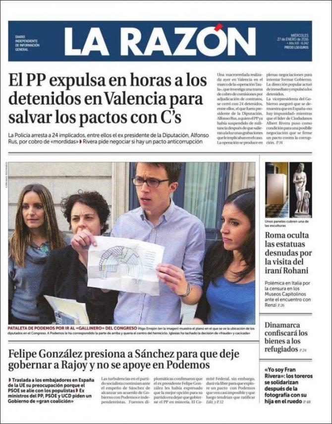 İspanyol basınında gündem yolsuzluk operasyonu