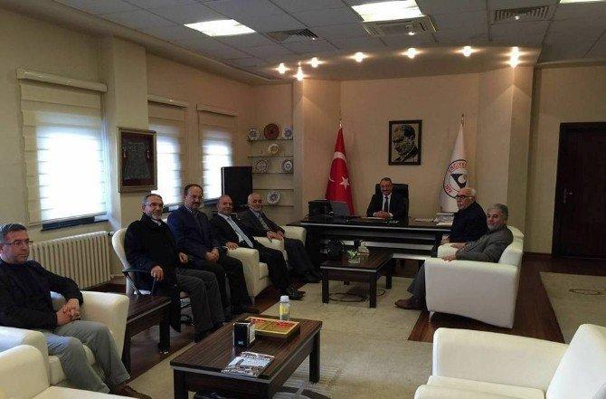 Gönüllü Kültür Kuruluşları Heyetinden ERÜ Rektörü Güven İle Talas Müftüsü Yapıcı'ya Ziyaret