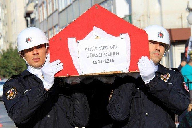 Kalp Krizi Sonucu Ölen Polis Memuru İçin Tören Yapıldı