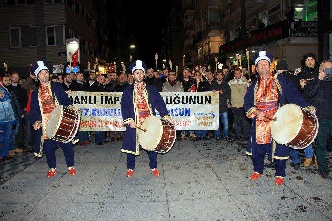 Samsun'da Osmanlı'nın 717. Kuruluş Yılı Yürüyüşü