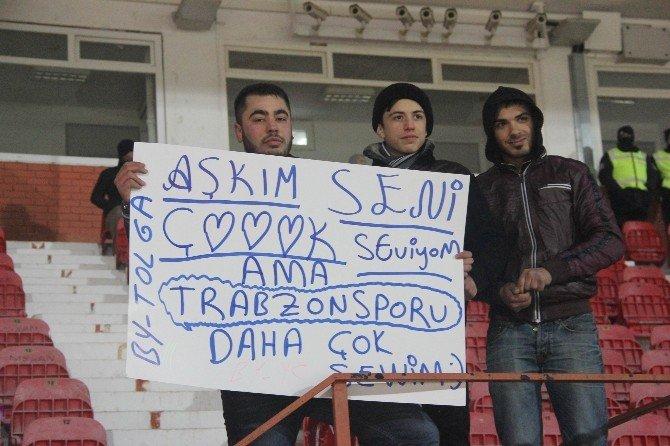 Trabzonspor'a Anlamlı Pankart