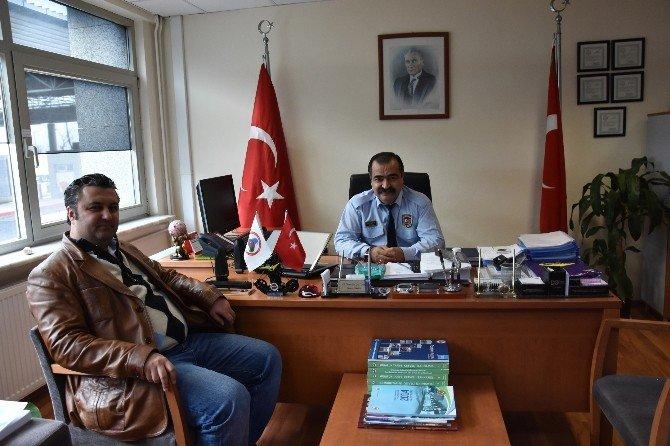 Başkan Ulaş Yurdakul'dan Gümrük Müdürü'ne Ziyaret