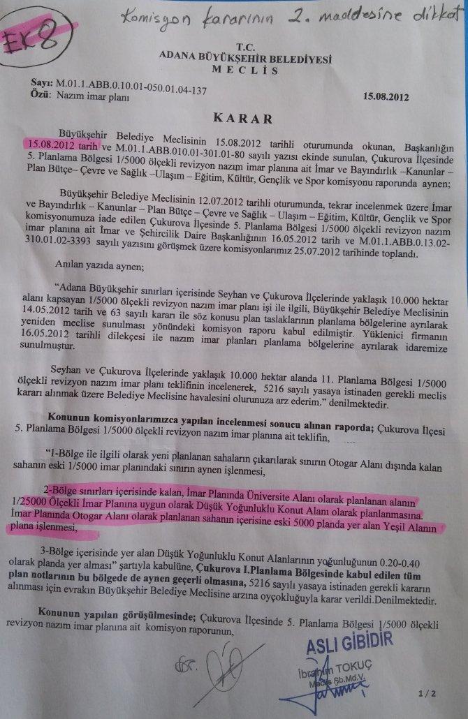 Belediye meclis tutanakları Adana'daki operasyonu çürüttü