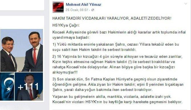 AK Parti'li Yılmaz HSYK'yı Göreve Çağırdı