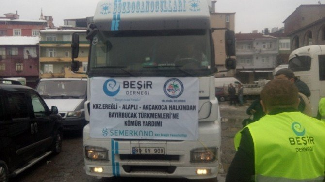 Alaplı'dan Bayırbucak Türkmenlerine Kömür Yardımı