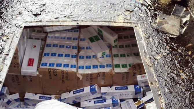 Batman'da 91 Bin 10 Paket Kaçak Sigara Ele Geçirildi