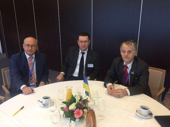 Çakırözer, Strazburg'da Kırım Tatar Lideri Kırımoğlu İle Bir Araya Geldi