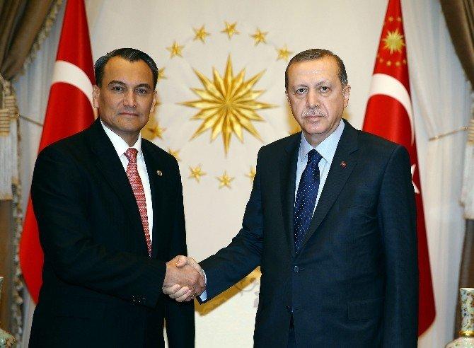 El Salvador Büyükelçisi Parada, Cumhurbaşkanı Erdoğan'a Güven Mektubunu Sundu