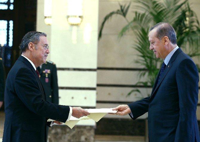 Ekvator Büyükelçisi Ruales'ten Cumhurbaşkanı Erdoğan'a Güven Mektubu