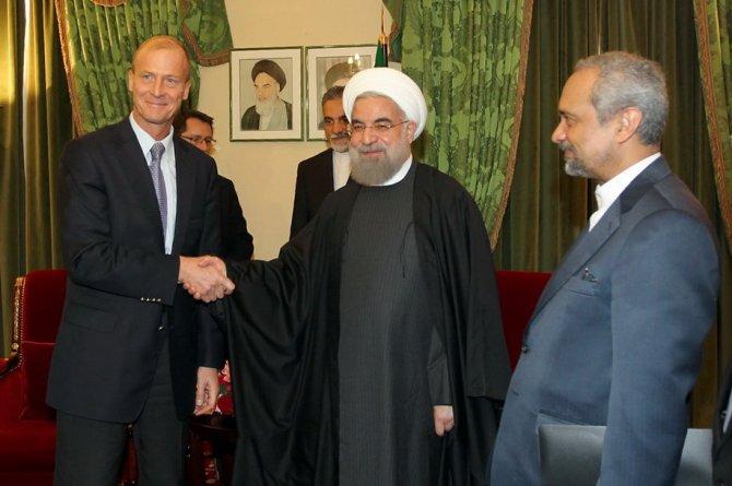 Ruhani, Total ve Airbus CEO'larını kabul etti