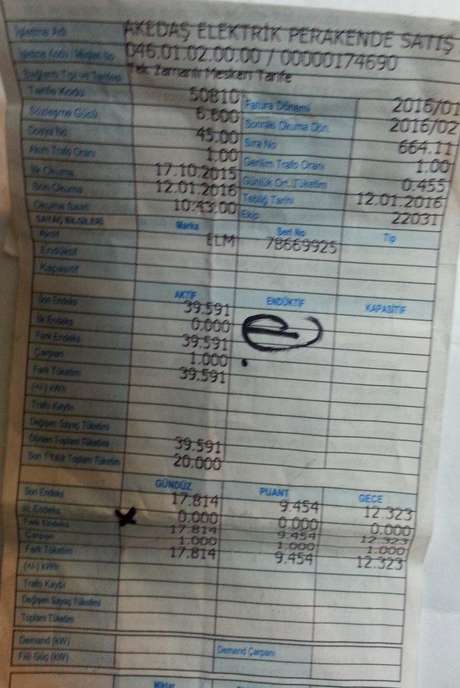 Kahramanmaraş'ı elektrik faturası çarptı