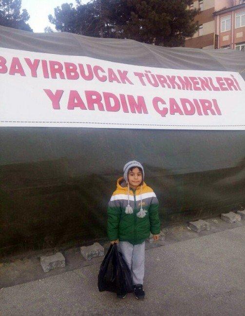 4 Buçuk Yaşındaki Çocuktan Bayır-bucak Türkmenlerine Anlamlı Yardım