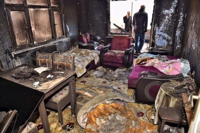 Başkan Demircan, Yangından Zarar Gören Mahalleliyi Yalnız Bırakmadı