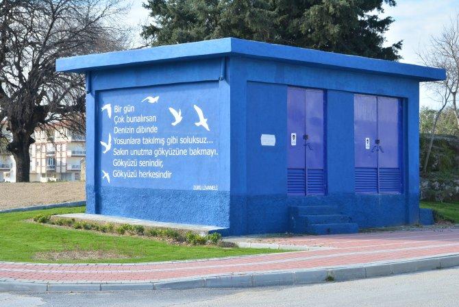Manavgat Belediyesi trafoları şiirle süslüyor