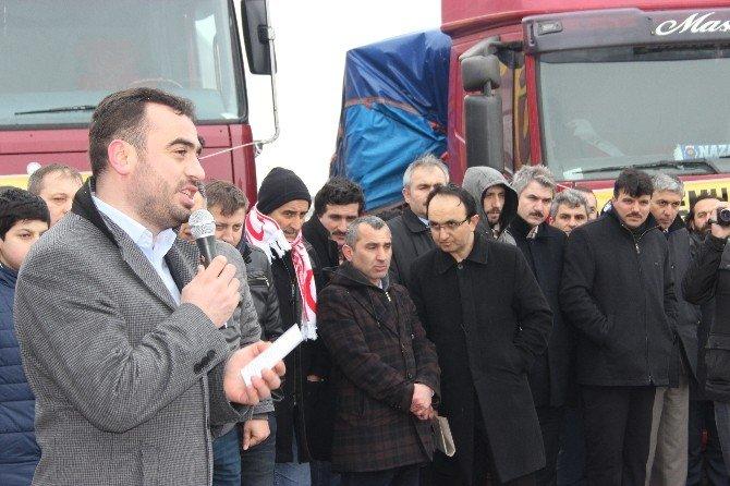 Çarşamba'dan Bayır Bucak Türkmenlerine 5 Tır Yardım