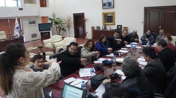 Aydın'da Gazeteciler De Zeytinyağı Tadım Uzmanı Oldu
