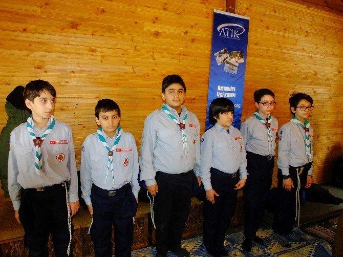 60 İzci Çocuk Kış Otağında Eğitim Gördü