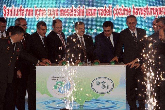 Bakan Eroğlu Şanlıurfa'da 75 Milyon Liralık 9 Tesisin Açılışını Yaptı
