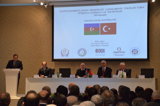 Bakü'de Türk ve Azerbaycanlı işadamları bir araya geldi
