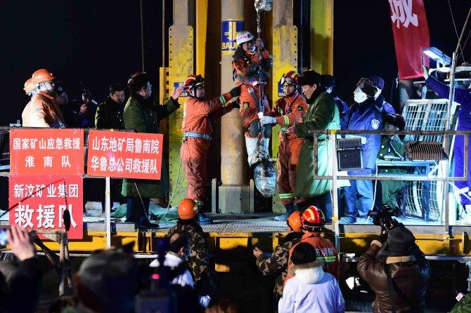 Çin'deki 4 madenci 36 gün sonra kurtarıldı