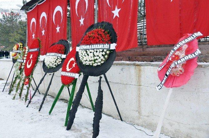 Şehit Cenazesinde CHP'nin Çelengi Dikkat Çekti