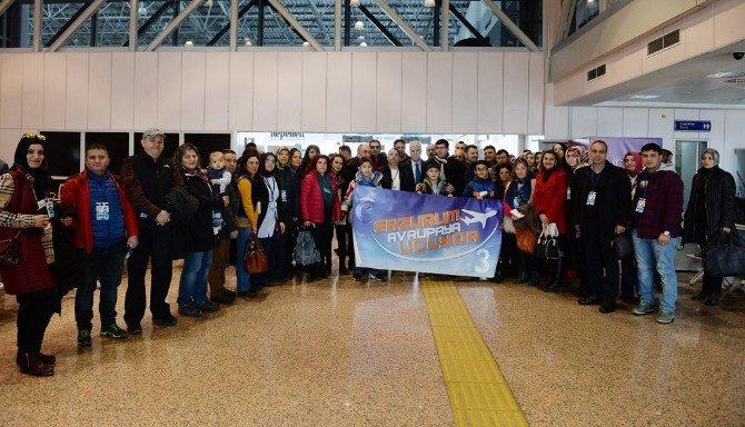 Erzurum Avrupa'ya Uçuyor Projesinin İlk Grubu İtalya'ya Gitti