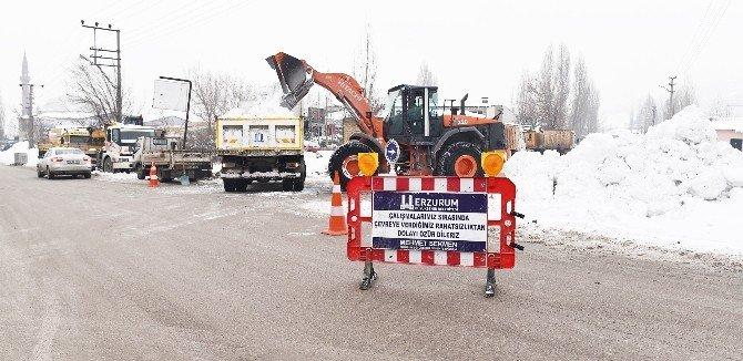 Büyükşehir Belediyesi Kar Çalışmalarına Devam Ediyor