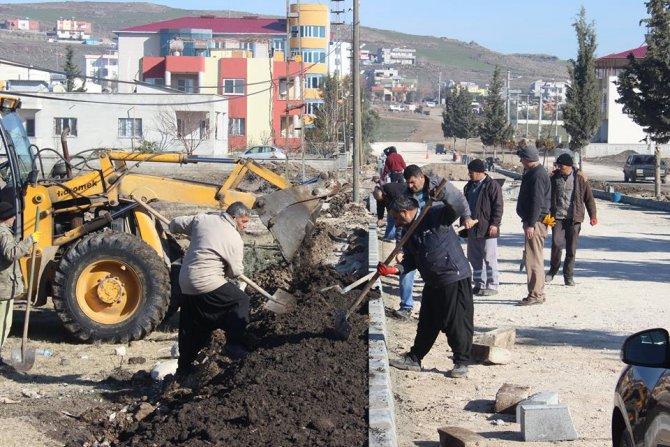 Toprakale Belediyesinden parke taşı çalışması