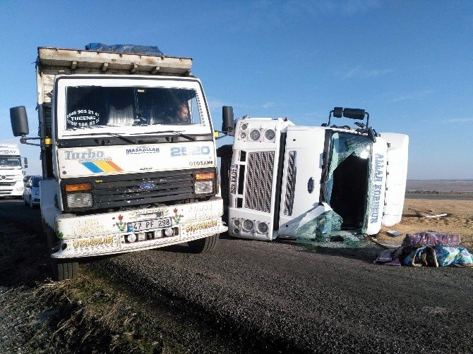 Siverekte Trafik Kazası: 1 Yaralı