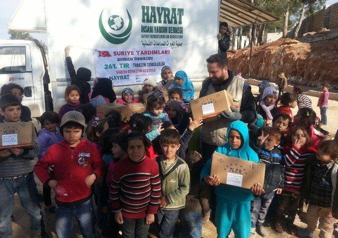 Trabzon'dan Gönderilen Yardım Malzemeleri Bayırbucak Türkmenleri'ne Dağıtıldı