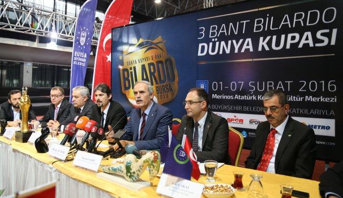 18 ülkeden bilardocular, 3 Bant Dünya Kupası için Bursa'ya geliyor