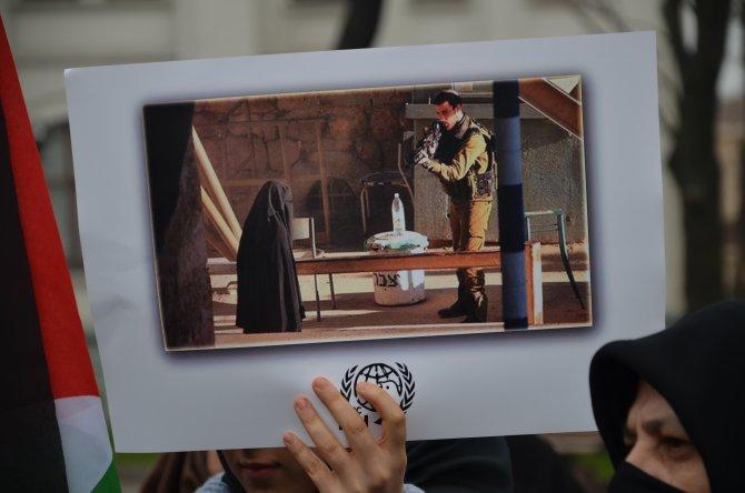 Fatih'te İsrail protestosu