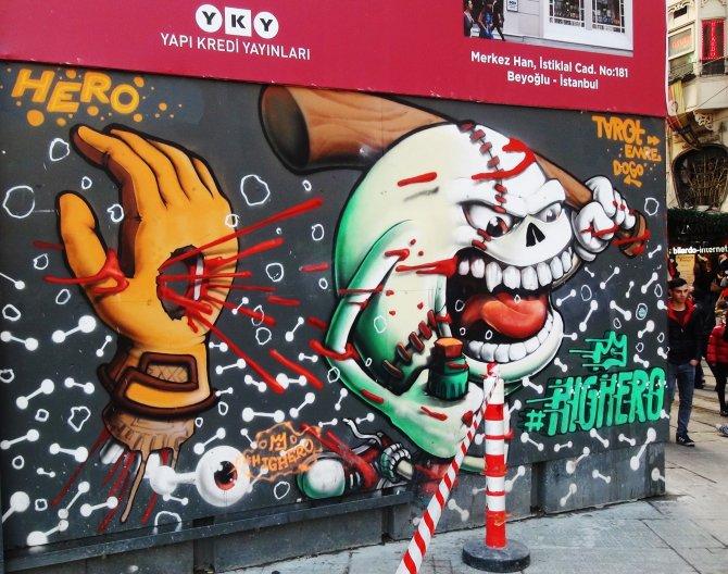İstiklal'de grafiti ilgisi