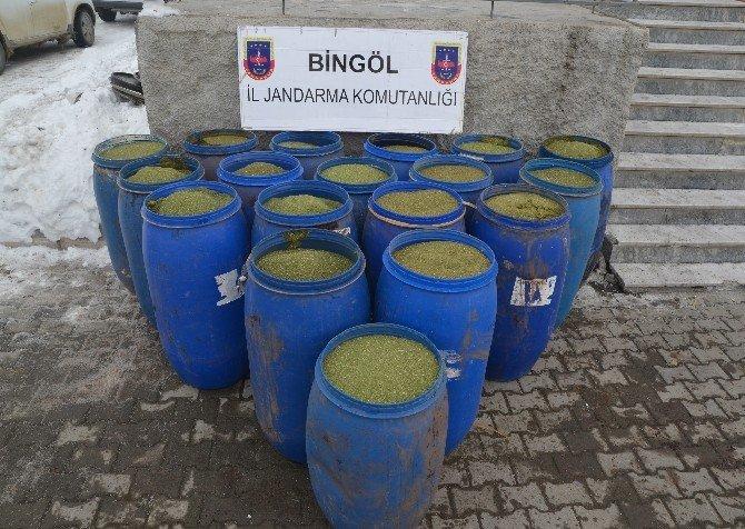 Bingöl'de 4 Milyon TL Değerinde Toz Esrar Ele Geçirildi