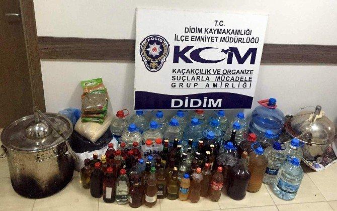 Evininde Sahte İçki İmal Eden Şahıs Tutuklandı