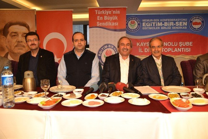 Eğitim Bir-sen Kayseri Şube Başkanı Aydın Kalkan: