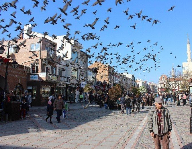 Edirneliler Güzel Havanın Tadını Çıkardı Yaşadı