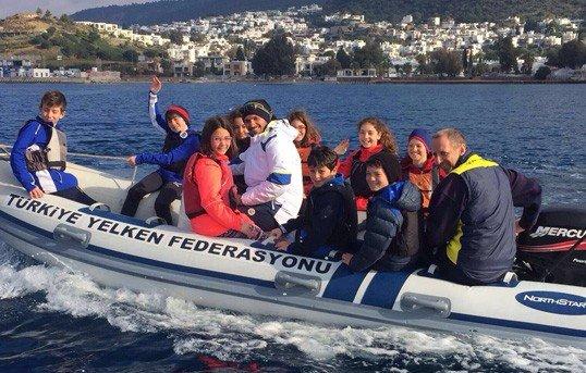 Fenerbahçe Optimist Yelken Takımı Bodrum Kampı'nda