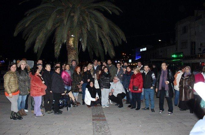 Tecavüz Olayı Foça'da Protesto Edildi