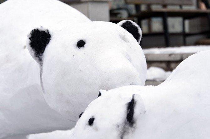 Kardan Adam Değil, Kardan Kutup Ayısı Yaptı