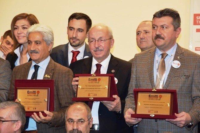Tekirdağ Büyükşehir Belediyesine Emit Fuarında 'En İyi Stand Dekoru' Ödülü