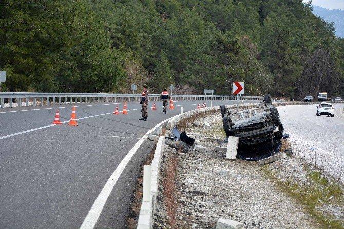 Köyceğiz'de Trafik Kazası; 1 Yaralı