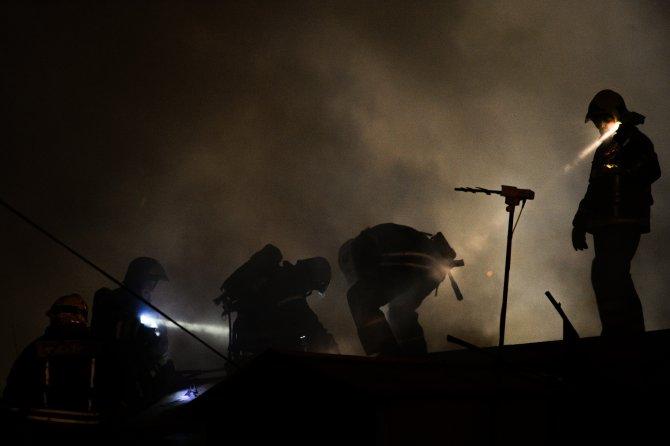 Moskova'nın kuzeydoğusunda fabrika yangını