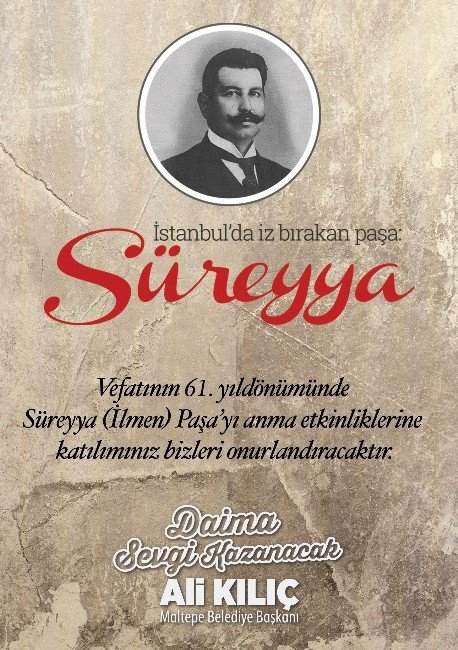 Süreyya Paşa, Ölüm Yıldönümünde Anılacak
